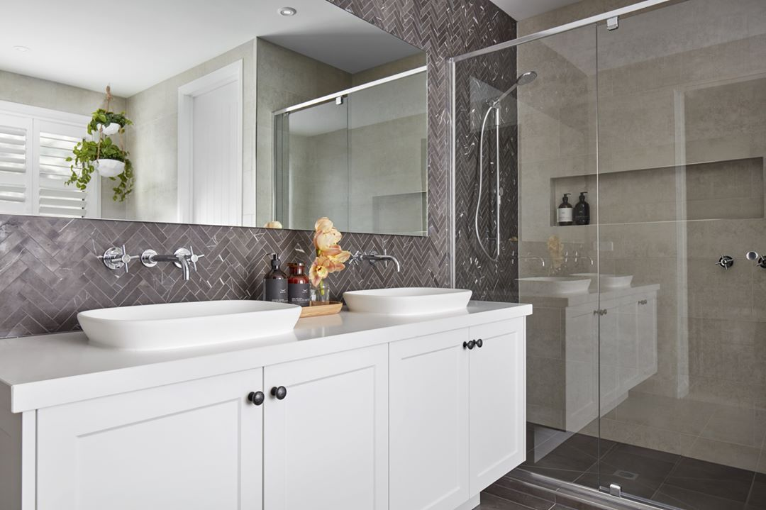 Caromaaustralia Fixtures And Fittings Are Included Standard In Every Boutique Bathroom We Love The Colours Boutique Homes Boutique Bathroom New Home Designs