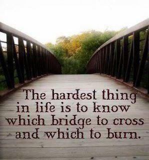 The hardest thing in life is...