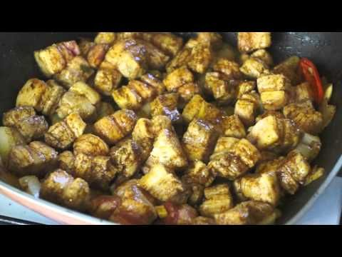 ▶ Jamaican Belly Pork & Greens recipes how to cook great food collards coconut - YouTube