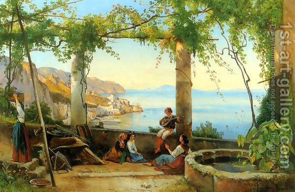 Sorrento Giacinto Gigante Oil Painting Reproduction 1st Art Gallery Com Paintings Famous Marine Painting 19th Century Italian Painting