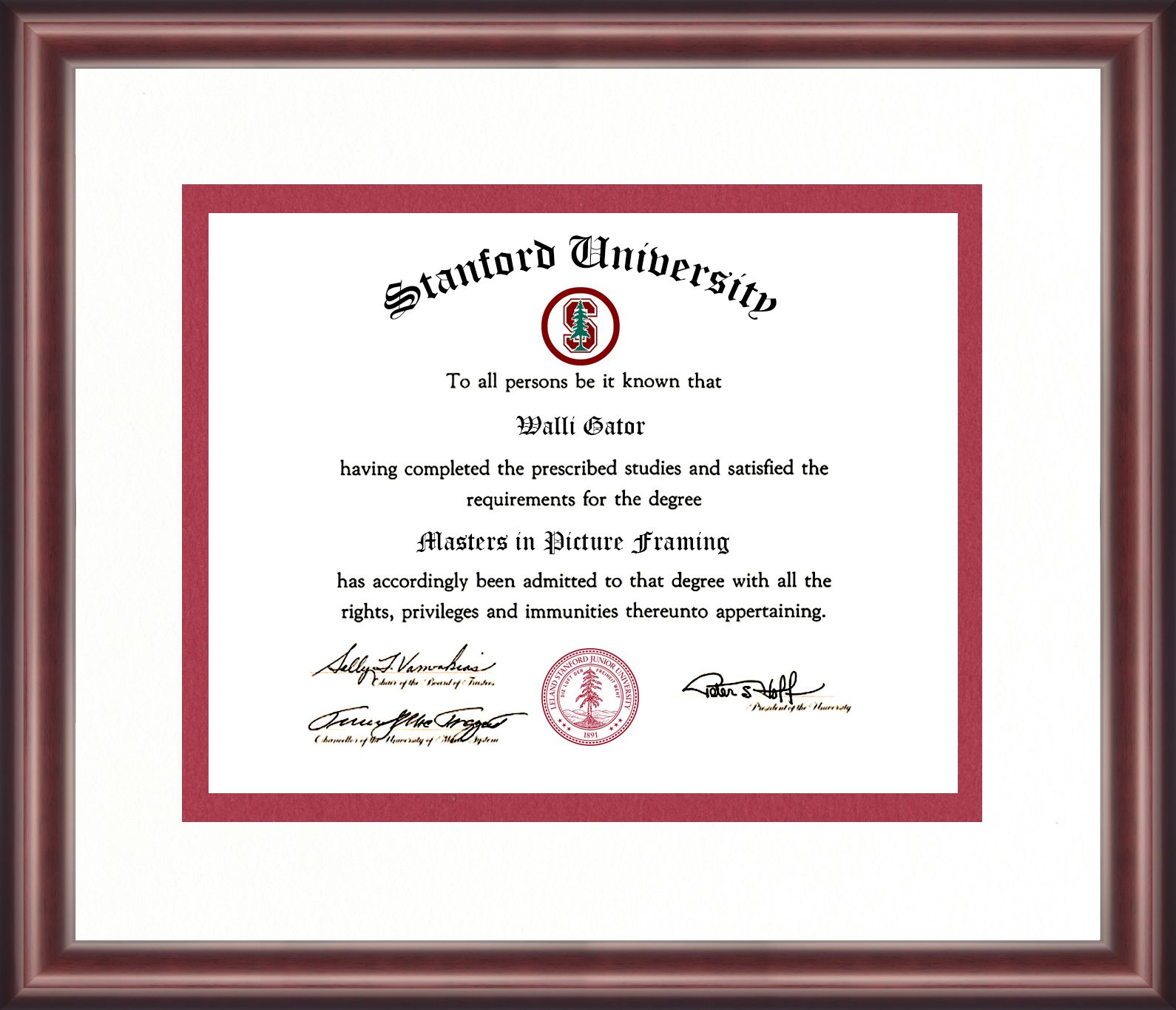 Stanford University Diploma Frame in 2019 | Diploma Frames