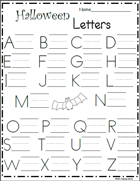 Uppercase Letter Writing Worksheet - Halloween - Made By Teachers Letter  Writing Worksheets, Writing Worksheets, Capital Letters Worksheet