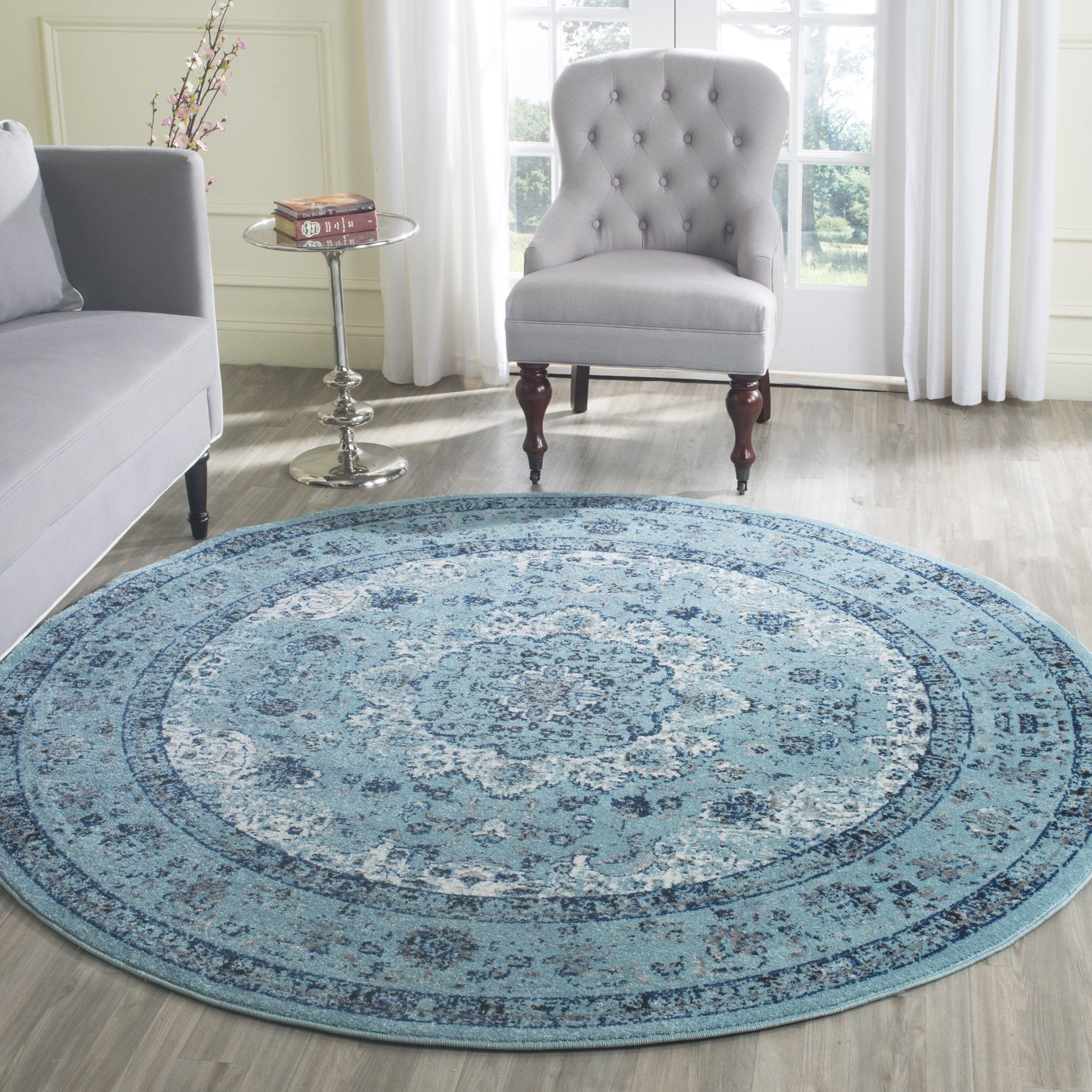 Round Oval Big House Changes Blue Area Rugs Light Blue Area