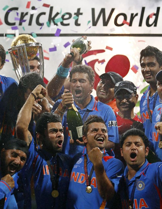 A Visual History Of How The Indian Cricket Team S Jersey Finally Became Cool Cricket 2011 Cricket World Cup