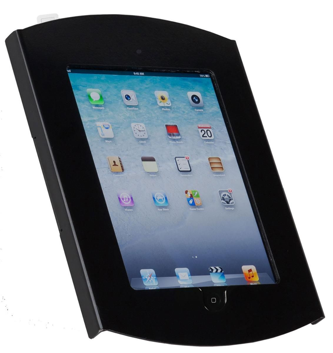 Ipad Wall Mount Locking Enclosure W Hidden Home Cc Reader Compatible Black Ipad Wall Mount Cc Card Tablet