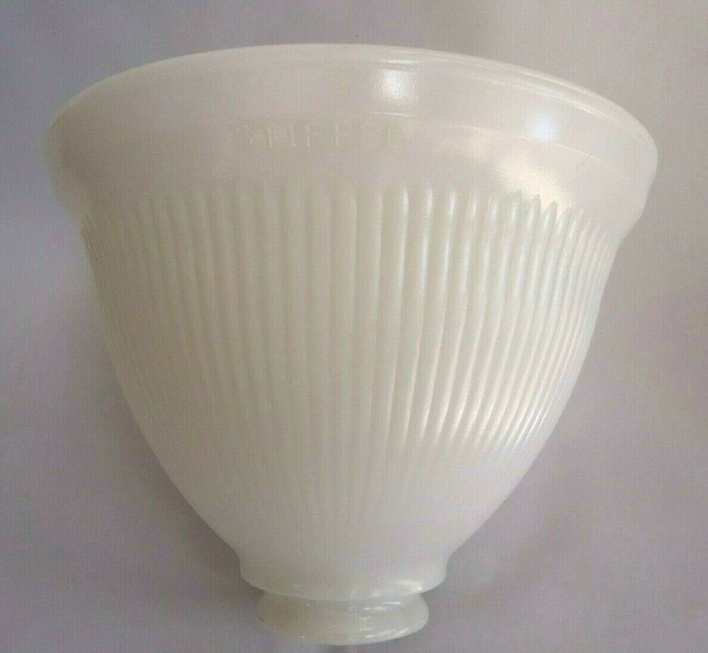 8 Stiffel Milk Glass Lamp Diffuser Torchiere Shade Replacement Signed Glass Diffuser Replacement Lamp Shades Milk Glass Lamp