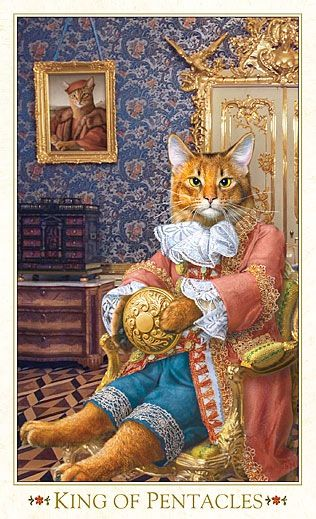 King Of Pentacles - Tarot Of The Bohemian Cats