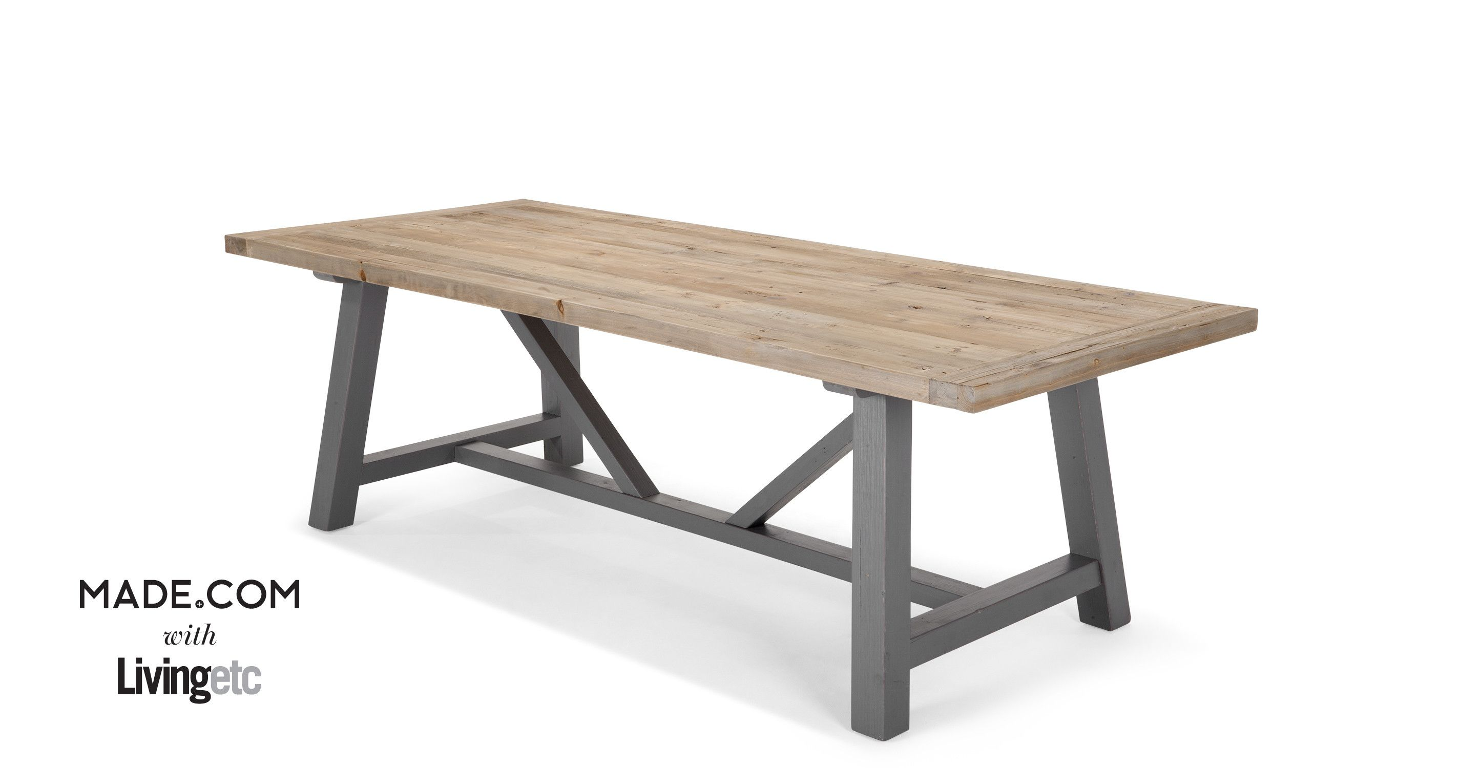 Iona dining table solid wood and grey made kitchen dining iona dining table solid wood and grey made geotapseo Images