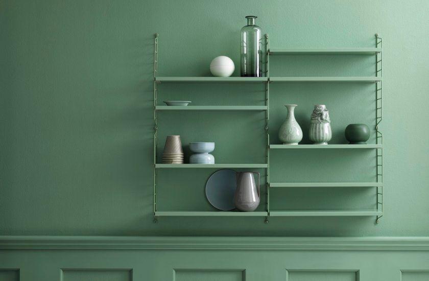 Étagère String ou étagère Tomado ? Shelf system, Green walls and
