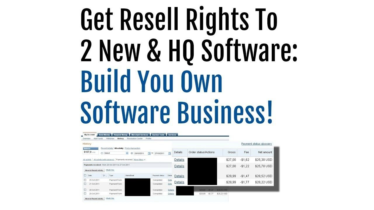 Resell Rights to TWO Software Products Review Demo Bonus - Build You Own...
