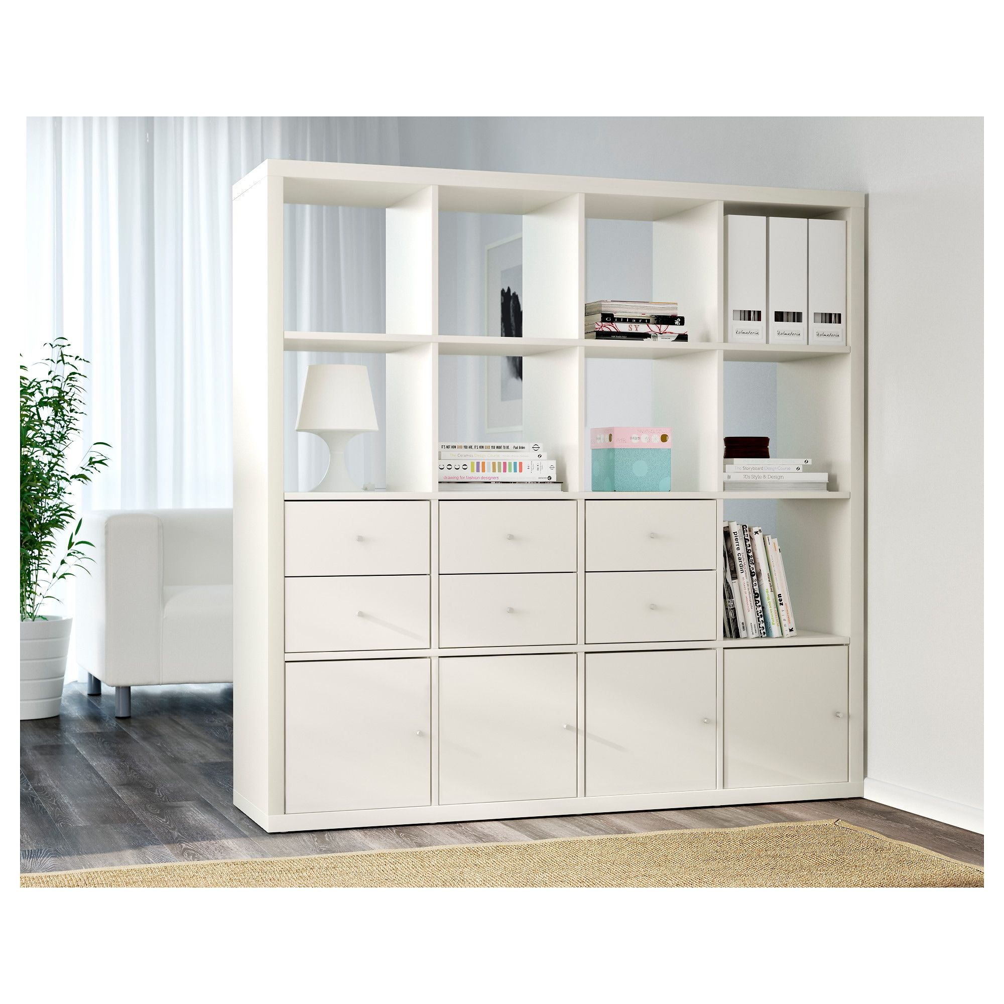 Kallax Open Kast Wit 147x147 Cm Ikea In 2020 Ikea Kallax Shelf Unit Kallax Shelving Unit Ikea Kallax Shelving
