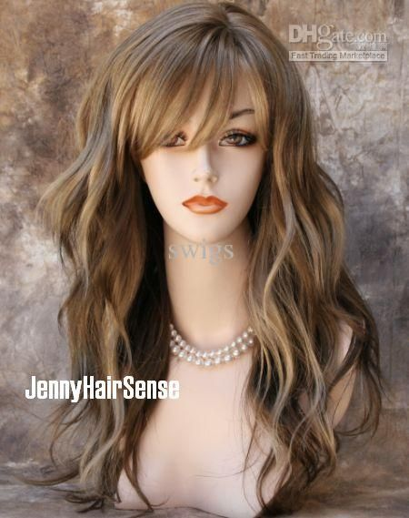 Synthetic wig new natural waves blonde brown wig wigs hair synthetic wig new natural waves blonde brown wig wigs hair extensions from swigs 12416 pmusecretfo Image collections