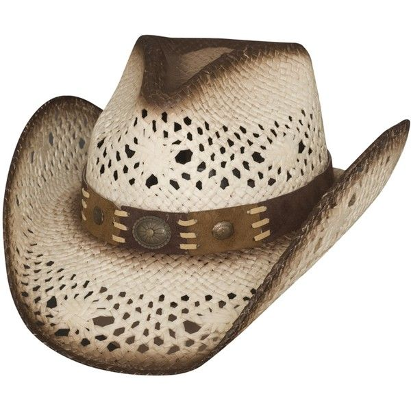 745e77eb3c141 Montecarlo Bullhide Hats PURE COUNTRY Toyo Straw Western Cowboy Hat White  found on Polyvore featuring women s fashion
