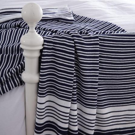 nautical stripe throw dunelm pinstriped decor for the. Black Bedroom Furniture Sets. Home Design Ideas