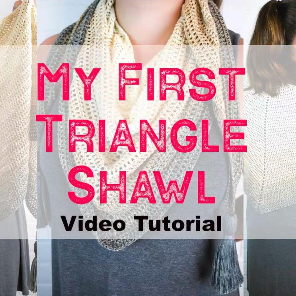 Photo of Triangle Shawl Crochet Video Tutorial