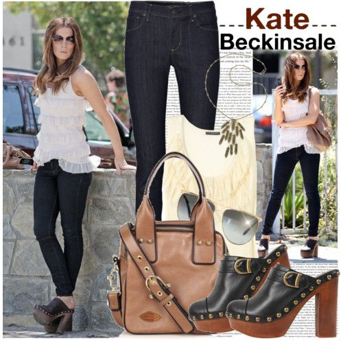 Kate Beckinsale's outfit is casual and chic. Love it!