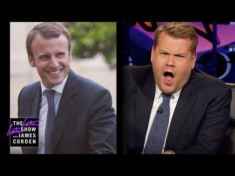James Corden Has Eyes For France S Emmanuel Macron Youtube Carpool Karaoke James Karaoke
