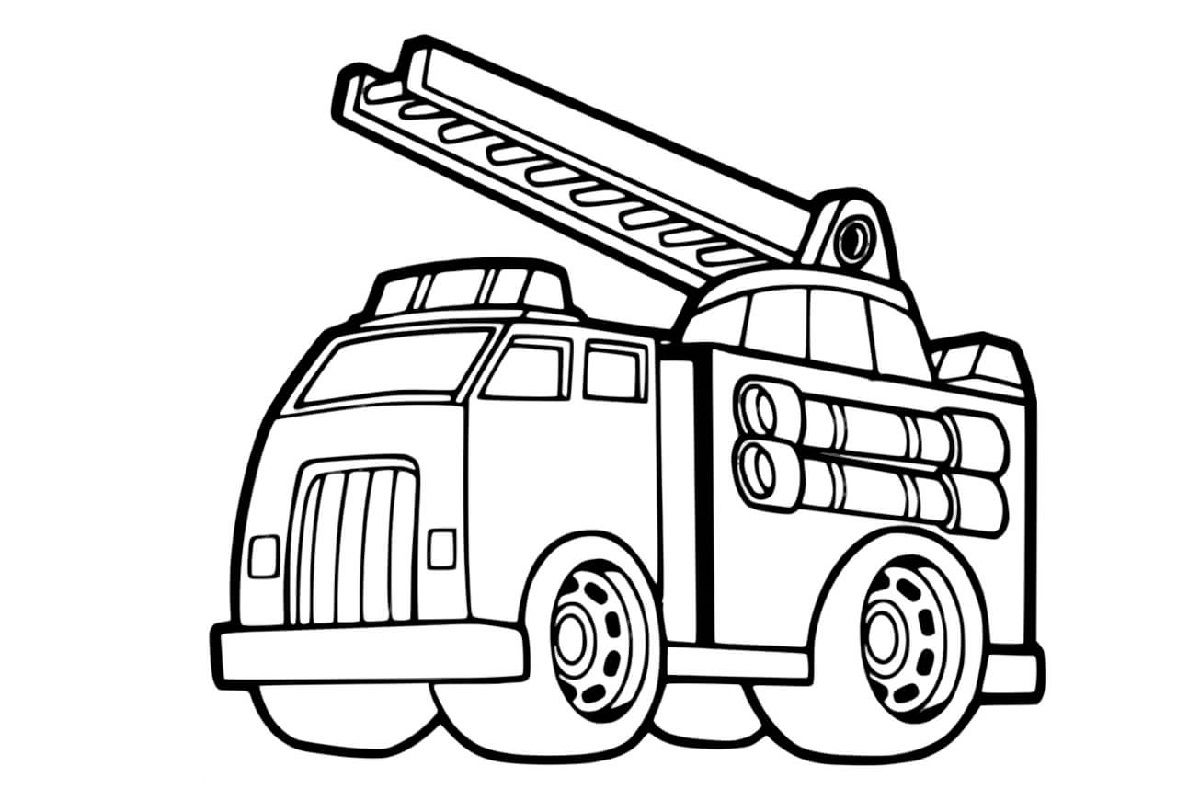 Fire Truck Coloring Page For Free Use Educative Printable Truck Coloring Pages Fire Trucks Coloring Pages