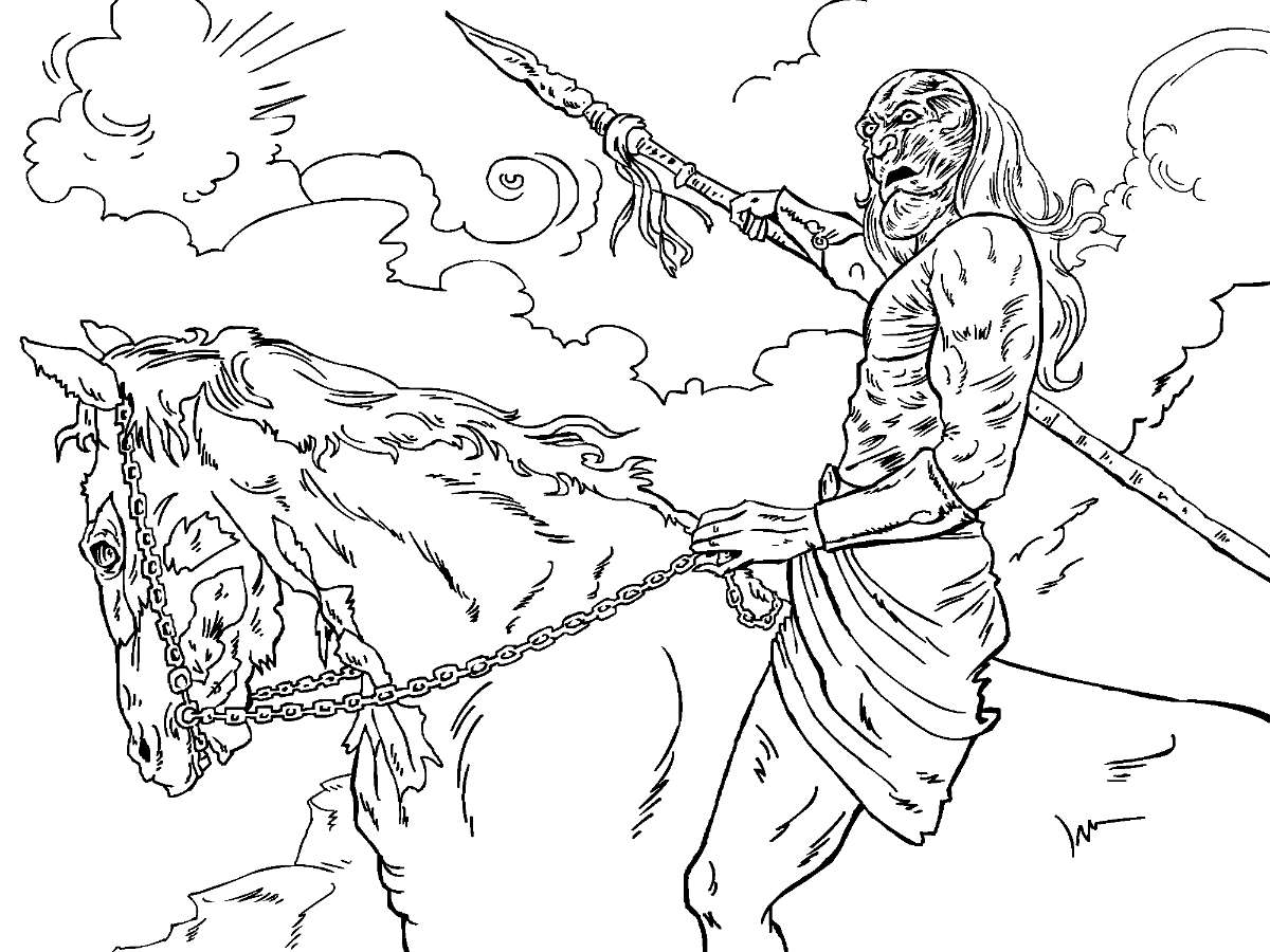 Game of Thrones Colouring in Page - White Walker  Coloring pages