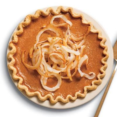 Our Best Pumpkin Recipes: Ginger Pumpkin Pie with Toasted Coconut | CookingLight.com
