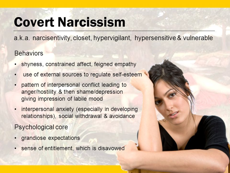 Signs of covert narcissism