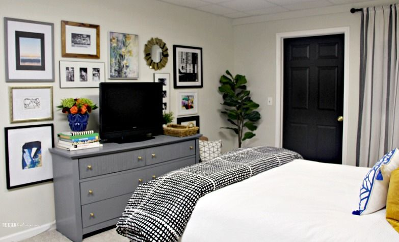 Basement Guestroom Reveal Bedroom Makeover Before And After