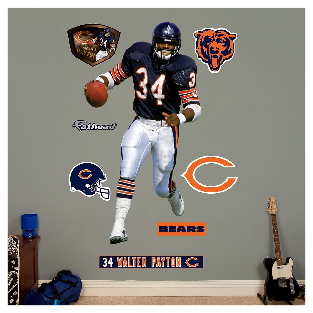 NFL Chicago Bears Walter Payton Fathead Wall Decal Set Part 61