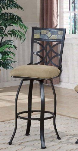 Set Of 2 29 H Bar Stools With Tiled Back Black Metal Finish By Coaster Home Furnishings 225 79 29 H Metal Bar Stools Home Bar Furniture Kitchen Bar Stools 29 inch bar stools with back
