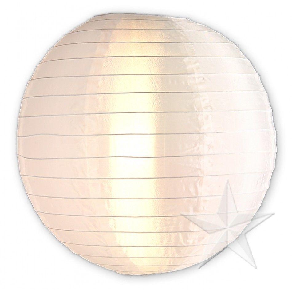8 Round Nylon Lanterns - White [8NYL-WH White Nylon Lanterns ...
