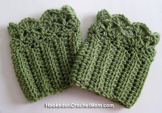 Boot Cuffs Topper Sock- Khaki Green Color Handmade Crochet Fits Children Teens Women Choose Your Size #hookedoncrochetmom