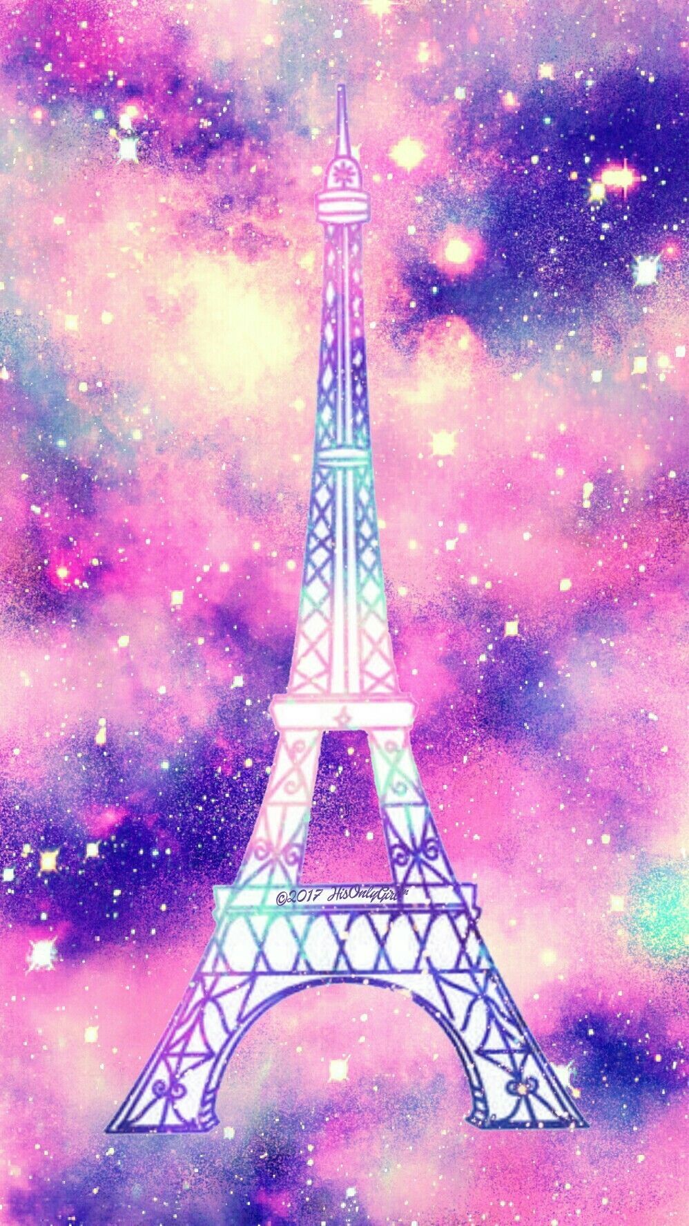 Eiffel Tower galaxy wallpaper I created for the app