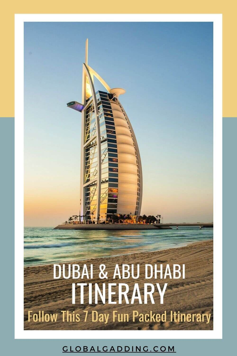 A fun packed Dubai and Abu Dhabi 7 day Itinerary. Some of the best things to do in UAE. Mosques, best architecture, luxury hotels and photography opportunities. Easy day by day instructions to follow! #dubai #uae #abudhabi #dubaiitinerary #thingstodoindubai