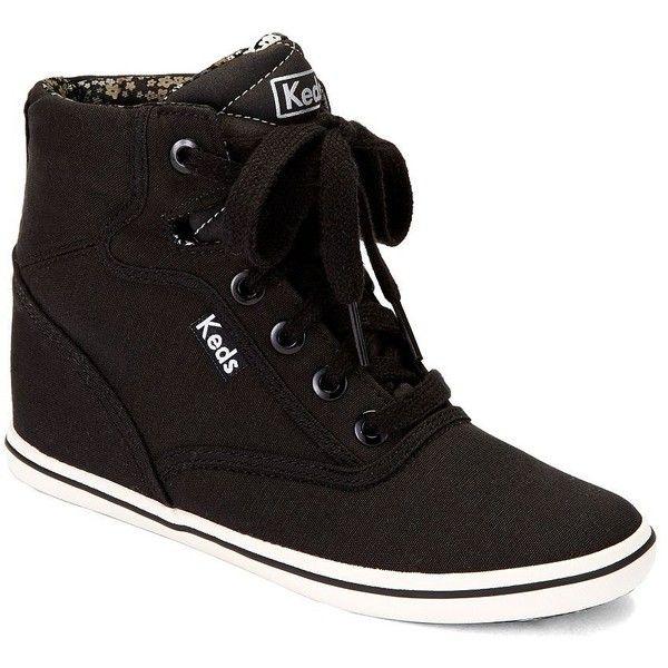 Wedge heel sneakers, Black wedge shoes