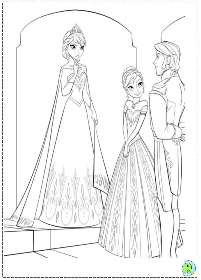 Coloriage la reine des neiges cuentos - Coloriage de frozen ...
