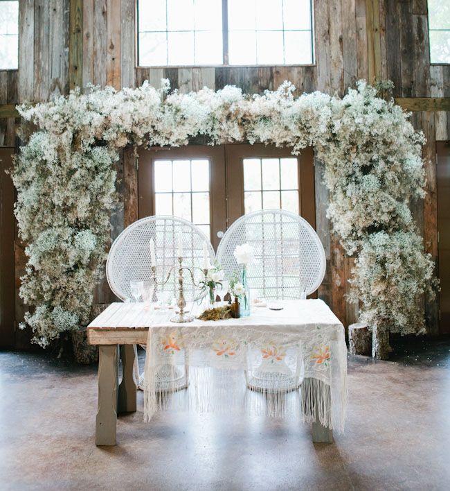 Bohemian Wedding Reception: Bohemian-Antique Ranch Wedding: Brittany + Federico