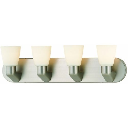 Lite Source Lighting Taza Satin Steel Bathroom Light at Destination Lighting