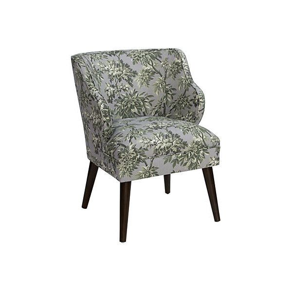 Kira Accent Chair Sylvan Toile Accent & Occasional Chairs ($439) ❤ liked on Polyvore featuring home, furniture, chairs, accent chairs, fabric arm chair, green upholstered chair, upholstered armchair, floral chair and green furniture