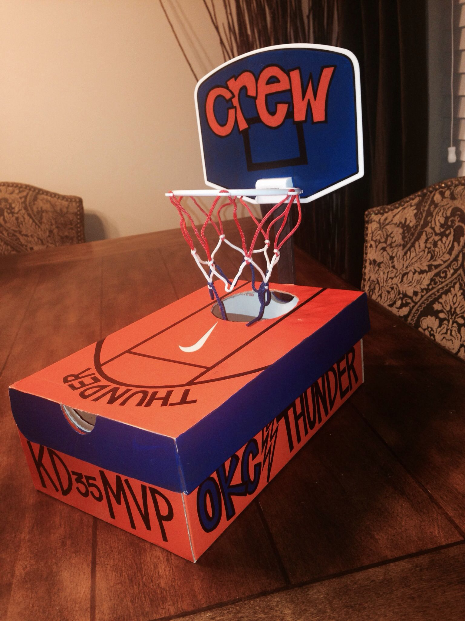 basketball craft ideas okc thunder basketball valentines box bambinos 1097