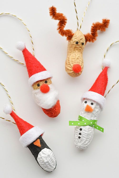 How to Make Peanut Christmas Ornaments | Pinterest | Simple ...