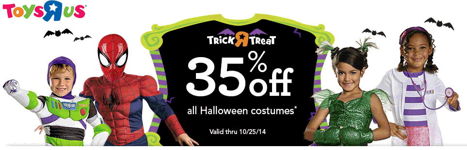 pinned october 23rd 35 off halloween costumes at toys r us coupon - Halloween Toys R Us