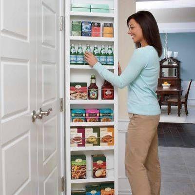 Cabidor By Hingenuity Behind The Door Hinge Mounted Storage Cabinet White 70 H Cabidor Behind Door Storage Door Storage Small House Storage
