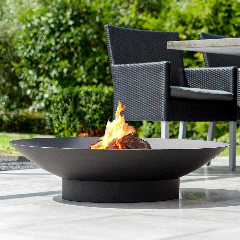 Firebowl Firepit Ø90 Steel fireplace with black heat