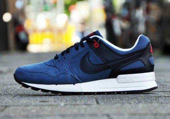 Nike Air Pegasus New Slate / Dark Obsidian / University Red