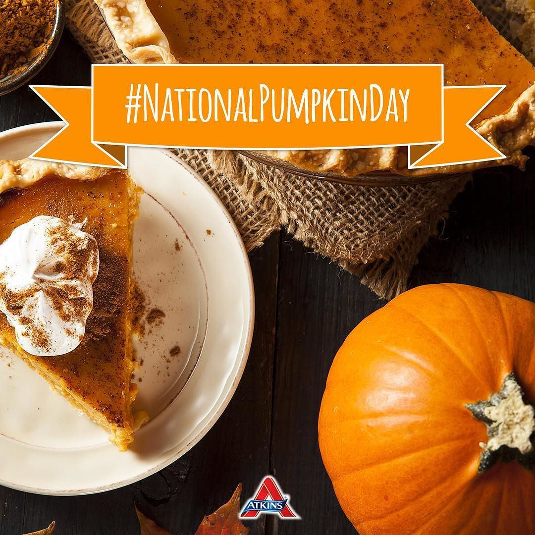 Happy #nationalpumpkinday!  Considered one of the best plant foods there are only 5g of net carbs for every 100g of pumpkin! #Atkins #lowcarb by atkinsinsider