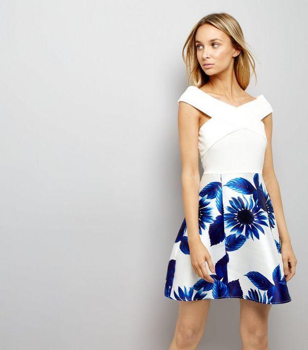 e565f38f3f AX Paris Blue Floral Print Dress