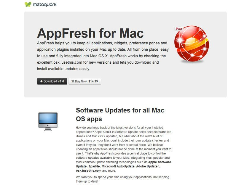 AppFresh per Mac, il programma che 'rinfresca' le vostre