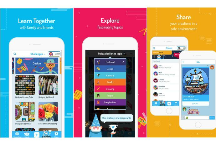 The new WonderBox app is a game changer in educational apps, with a combo of fascinating videos and really fun creative challenges your kids will love.