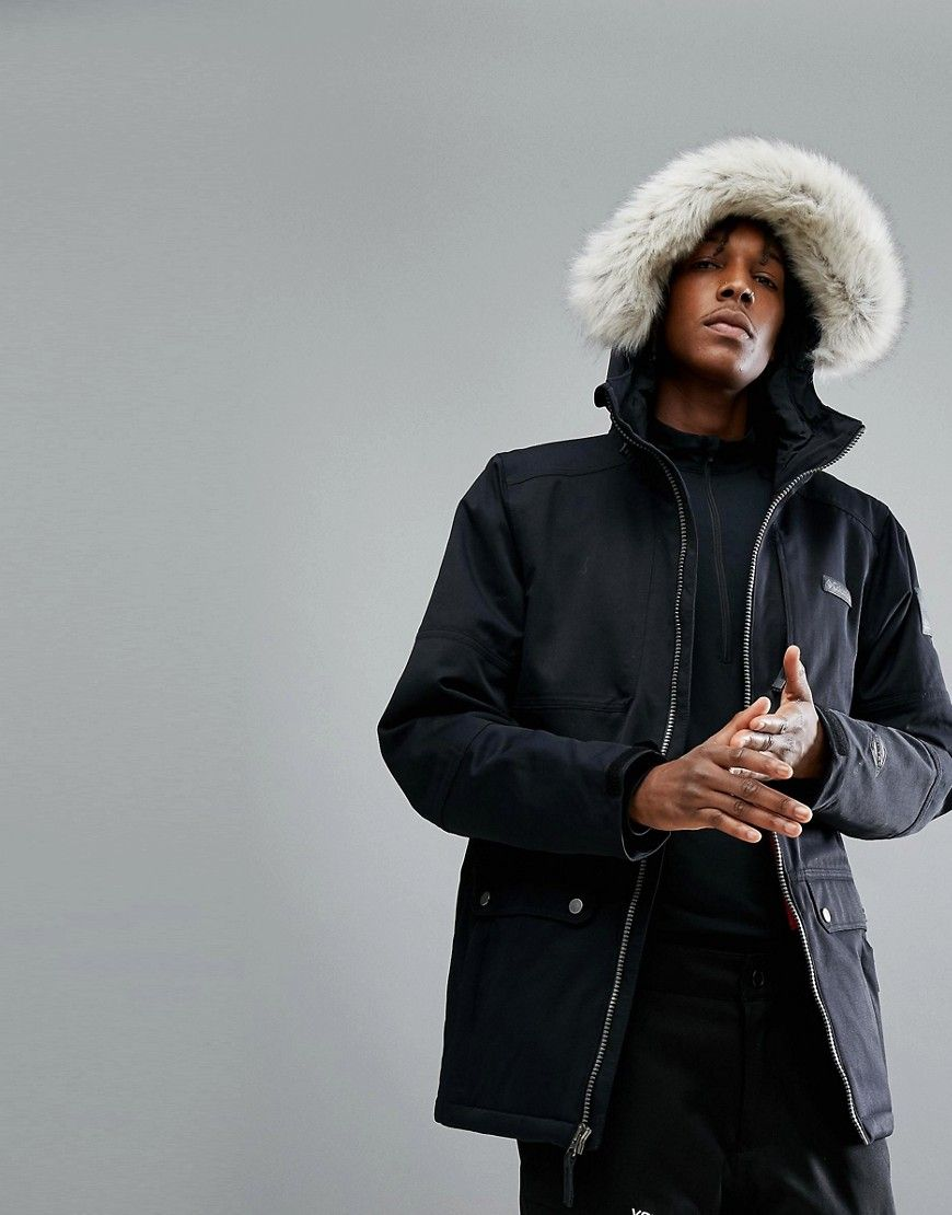 Columbia Catacomb Crest Ski Parka in Black - Black ...