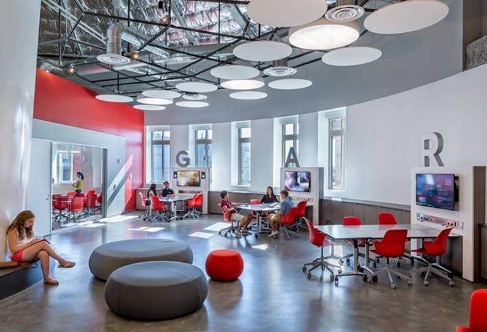 "California Interior Design Schools Creative the garage"" innovation lab on the fourth floor of the ronald tutor"