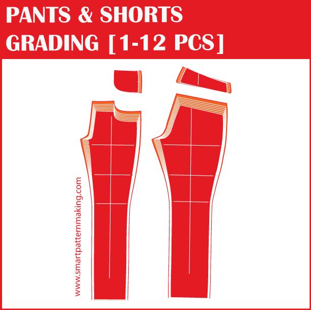 Pattern Grading Pants Shorts 1 12 Pieces Pattern Services Shop Now Https Www Smartpatternmaking Com C Pattern Grading Pants Pattern Pattern